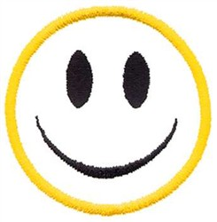 Smiley Face Outline embroidery design