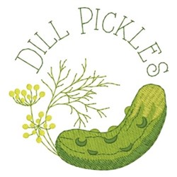 Dill Pickles embroidery design