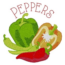 Peppers embroidery design