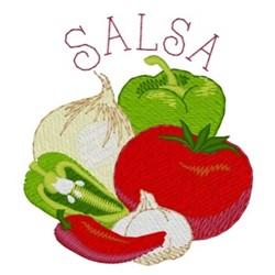 Salsa embroidery design
