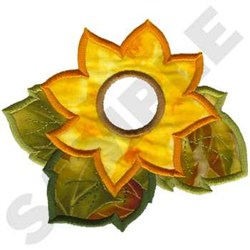 Sunflower Towel Topper embroidery design