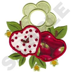 Apple Towel Topper embroidery design