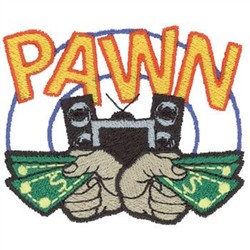 Pawn Shop Logo embroidery design