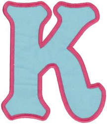 Applique Letter K Embroidery Design Annthegran