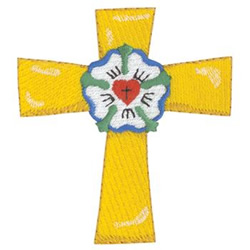 Lutheran Cross embroidery design
