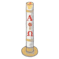 paschal candle embroidery design