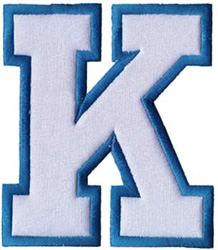 Applique K Embroidery Design Annthegran