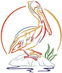 pelican outline embroidery design annthegran