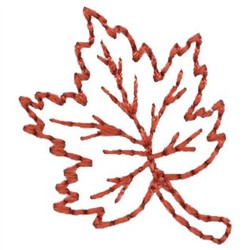 Leaf Outline embroidery design