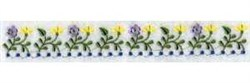 Linen Border Flowers embroidery design