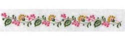 Linen Flower Border embroidery design