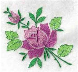 Purple Rose embroidery design