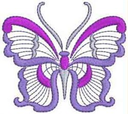 Jacobean Purple Butterfly embroidery design