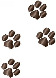 Paw Steps embroidery design