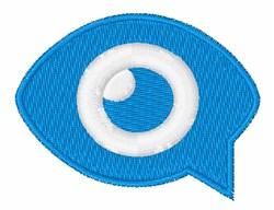 Eye Speech Bubble embroidery design