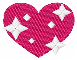 Sparkling Heart embroidery design