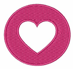 Circle Heart embroidery design