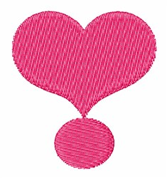 Heart Exclamation embroidery design