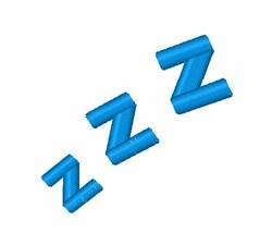 ZZZ Sleeping embroidery design