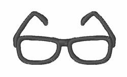Eyeglasses embroidery design