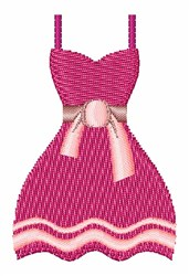 Pink Dress embroidery design