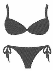 Bikini embroidery design