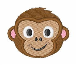 Monkey Face embroidery design