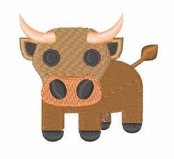 Oxen embroidery design