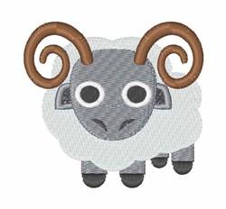 Ram embroidery design
