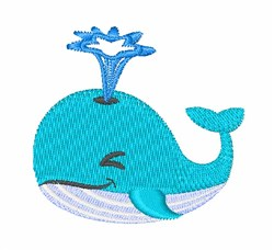 Whale embroidery design