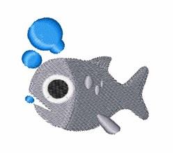 Fish & Bubbles embroidery design