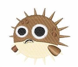 Blowfish embroidery design