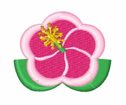 Hibiscus embroidery design