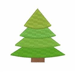Evergreen Tree embroidery design