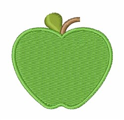 Green Apple embroidery design