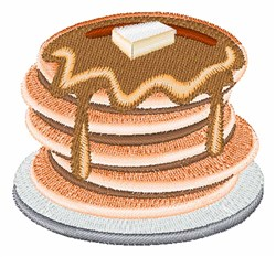Pancakes embroidery design