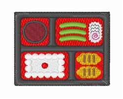 Bento Box Sushi embroidery design