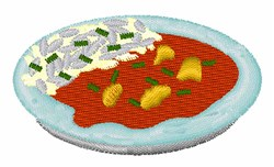 Curry And Rice embroidery design