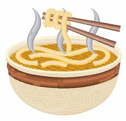 Ramen Noodles embroidery design