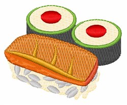 Sushi embroidery design