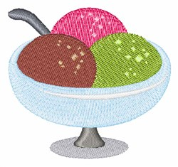 Ice Cream embroidery design