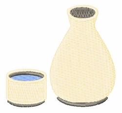 Sake embroidery design