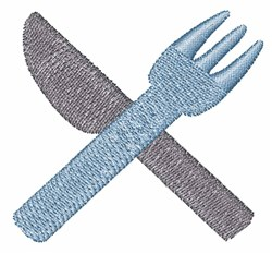 Fork And Knife embroidery design