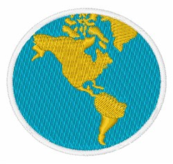 Globe - The Americas embroidery design