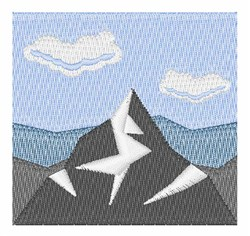 Snow Mountains embroidery design
