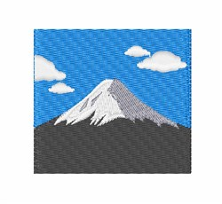 Mount Fuji embroidery design