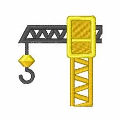 Construction Crane embroidery design
