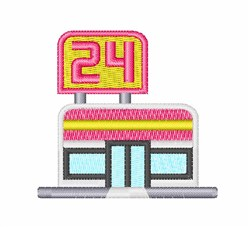 Convenience Store embroidery design
