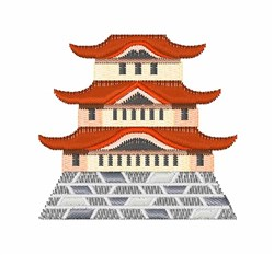 Japanese Castle embroidery design