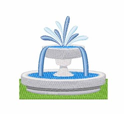 Fountain embroidery design